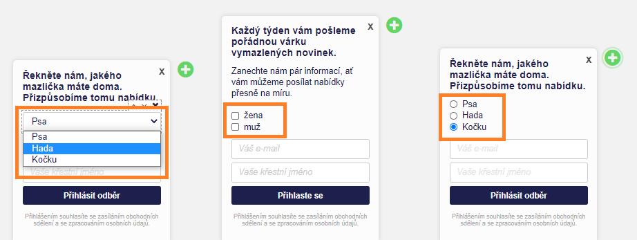 Formuláře pro ještě lepší personalizaci